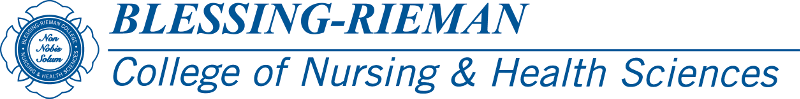 Blessing-Rieman College of Nursing & Health Sciences Logo